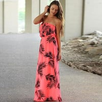 Print Floor Length Summer Maxi Dress Hippie Boho Beach Style Chiffon Dress Sexy