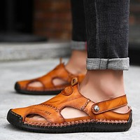 Men's Leather Classic Soft Summer Sandals