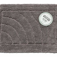 "Royal Bath Solid Color Medium (17"" x 24"") 100% Cotton Bath Mat (Pewter)"