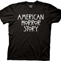 American Horror Story - Mens Stacked Type Logo T-shirt in Black
