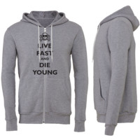Live Fast and Die Young Zipper Hoodie