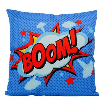 BOOM | Blue | Anime | Fun Gifts | Pillow Cover | Home Decor | Superhero | Happy Birthday | Kids Room | Gift idea | Kids Decor | Room Decor