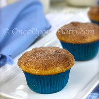 Once Upon a Plate: Muffins~ Cinnamon Doughnut Muffins!! (And they have a surprise inside.)