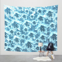 Trippy garden Wall Tapestry by HappyMelvin
