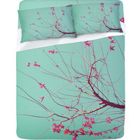 DENY Designs Home Accessories | Happee Monkee Red Stars Sheet Set