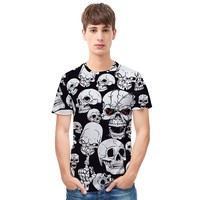Skull t shirts Men Casual 3D Printed