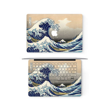 Great Wave Kanagawa Apple MacBook Keyboard Top Front Lid Cover Decal Skin Sticker Protector Air Pro Retina Touch Bar 11 12 13 15 17 inch