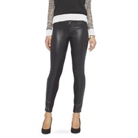 Women's Faux Leather Skinny Pant Black
