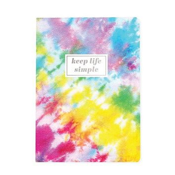 """Keep Life Simple Tie Dye Soft Cover Journal 