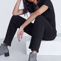 Six Crisp Days Ribbed Knit Zip-Up Jumpsuit | Urban Outfitters