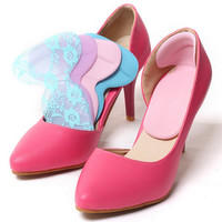 Soft Silicone Multicolor Insole Pads High Heel Gel Foot Care Protector Anti Slip Cushion Shoe Insert Dance shoes