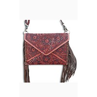 American Darling Tooled Cognac Crossbody
