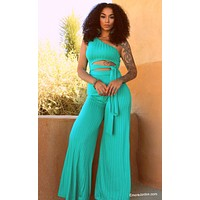 Teal I See You Jumpsuit