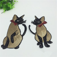 Cat sequins embroidery cloth paste Clothes coat Accessories adhesive patch stickers sweater repair subsidies Chapter