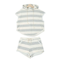 Stripe Banded Casual Set
