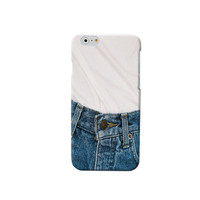 WHITE TEE BLUE JEANS IPHONE CASE