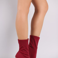 Stretchy Pointy Toe Round Heeled Boots