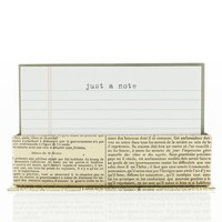 Just a Note Flat Notes in Typewriter Style with Envelopes