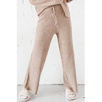 Waiting Around Camel Sweater Pant