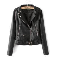 High Quatily Suede Motorcycle Jacket Womens Leather Jackets And Coats Vest Femme Sleeves Detachable Leather Biker Jacket