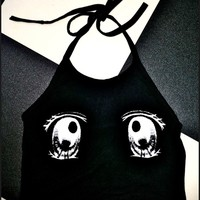 SWEET LORD O'MIGHTY! ANIME EYEZ HALTER IN BLACK