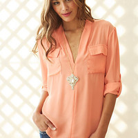 Pullover Utility Blouse
