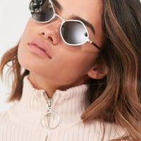 #QUAYxKYLIE Purple Honey Geometric Sunglasses | Urban Outfitters
