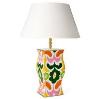 Ikat Floral Table Lamp, Multi