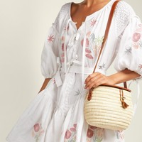 Balloon-sleeve linen peasant dress | Innika Choo | MATCHESFASHION.COM US