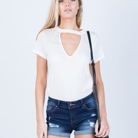 Lightweight Cuffed Denim Shorts