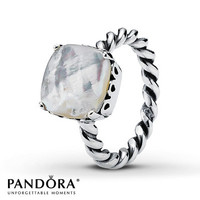 Pandora Path Ring Mother-of-Pearl Sterling Silver