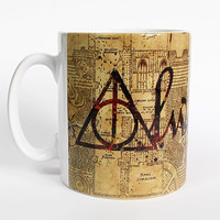 ON SALE 20% OFF Harry Potter Mug  Marauder's Map Watercolor Art Cup Coffee Mug  Harry Potter Deathly Hallows Always Cup Coffe Cup Deathly Ha