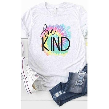 Be Kind Tie Dye Graphic Tee (S-XL)