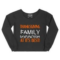 Thanksgiving Family Dysfunction At It's Best-Female Black Hoodie