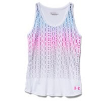 Under Armour Girls' UA Stacked Charged Cotton Tri-Blend Tank