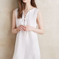 Cloth & Stone Navarre Lace-Up Dress in White Size: