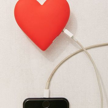 MojiPower Heart Portable Power Bank   Urban Outfitters