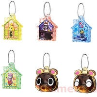 Animal Crossing New Leaf Jump Out Crystal Mascot Key Chain SET OF 6 Bandai
