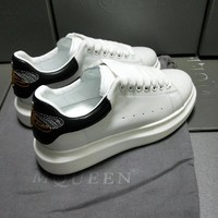 Alexander McQueen Women's Leather Fashion Lace-Up Sneakers Shoes