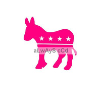 Single Color Donkey democrat vinyl Decal