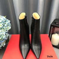 Christian Louboutin Cl So Kate Booty Black Ankle Boots - Best Deal Online