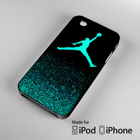 Air Jordan Jump Mint Glitter iPhone 4 4S 5 5S 5C 6, iPod Touch 4 5 Cases