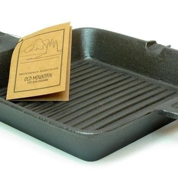"""10"""" Cast Iron Square Grill Skillet"""