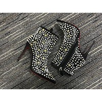 Christian Louboutin Cl Women Leather Ankle Boots Reference #26
