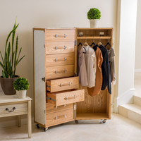 Christopher Knight Home Richfield Rolling Wardrobe   Overstock.com Shopping - The Best Deals on Armoires