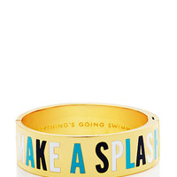 Kate Spade Everything's Going Swimmingly Hinged Idiom Bangle Blue