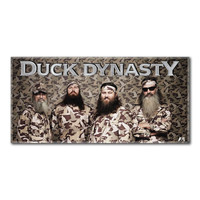 Duck Dynasty Group Camo  Beach Towels (28in x 58in)