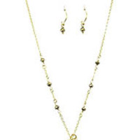 Time Time Time Gold Charm and Jade Layering Necklace Set
