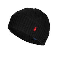 Polo Ralph Lauren - Merino Wool-Cashmere Cable Knit Hat
