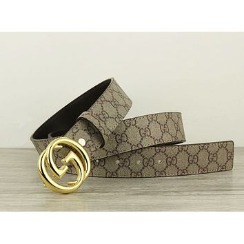 GUCCI New fashion more letter leather couple belt